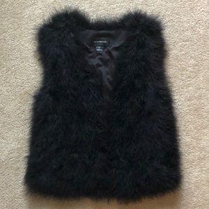 Club Monaco Black Feather Vest